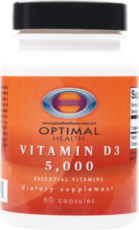 Vitamin D3 5,000ui<br/>60 count